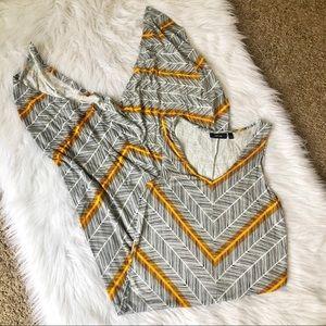 Apt 9. Yellow Boho maxi dress, small